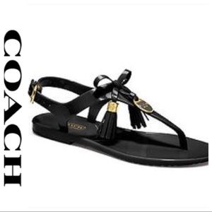 💕SALE💕Coach Black Helma Jelly Sandals